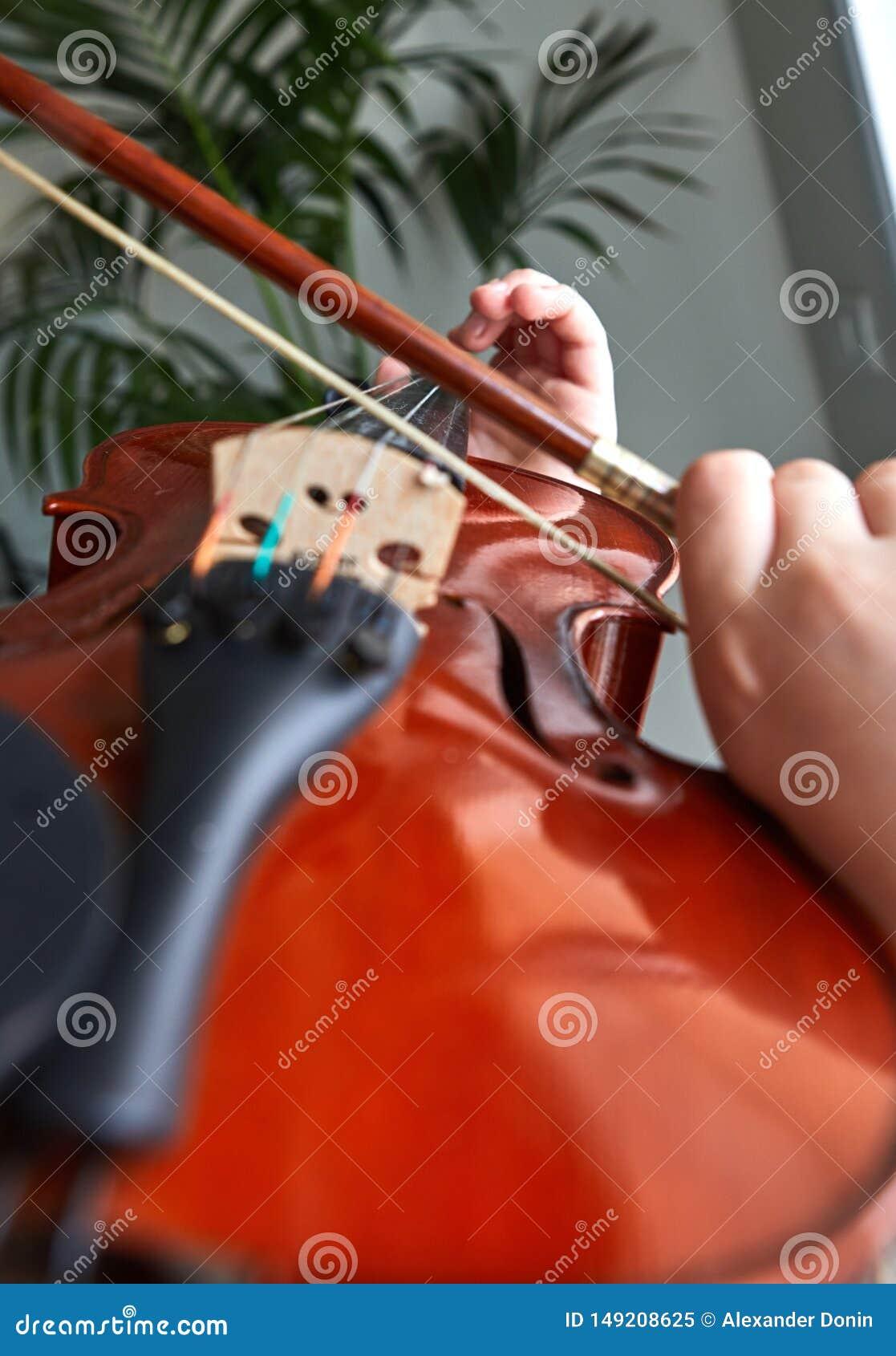 古典球员手 细节小提琴使用