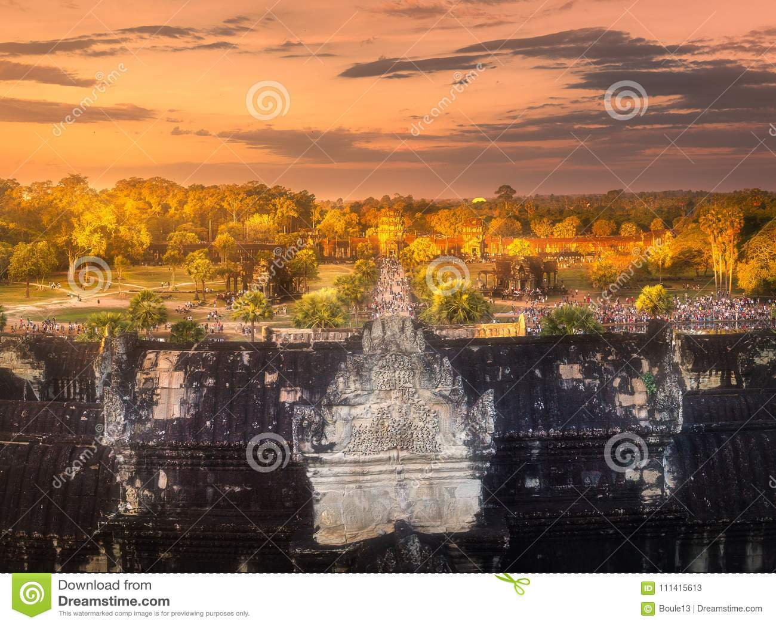 古庙复杂吴哥暹粒,柬埔寨
