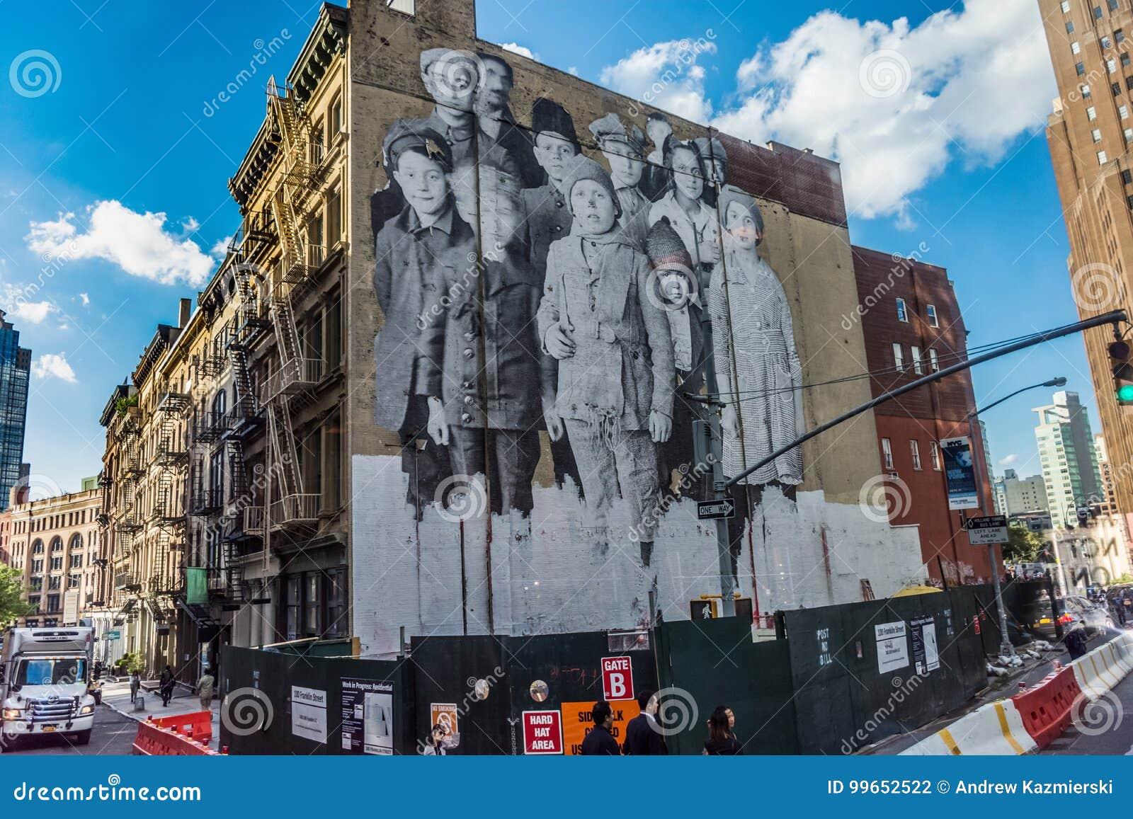 古板的壁画在城市