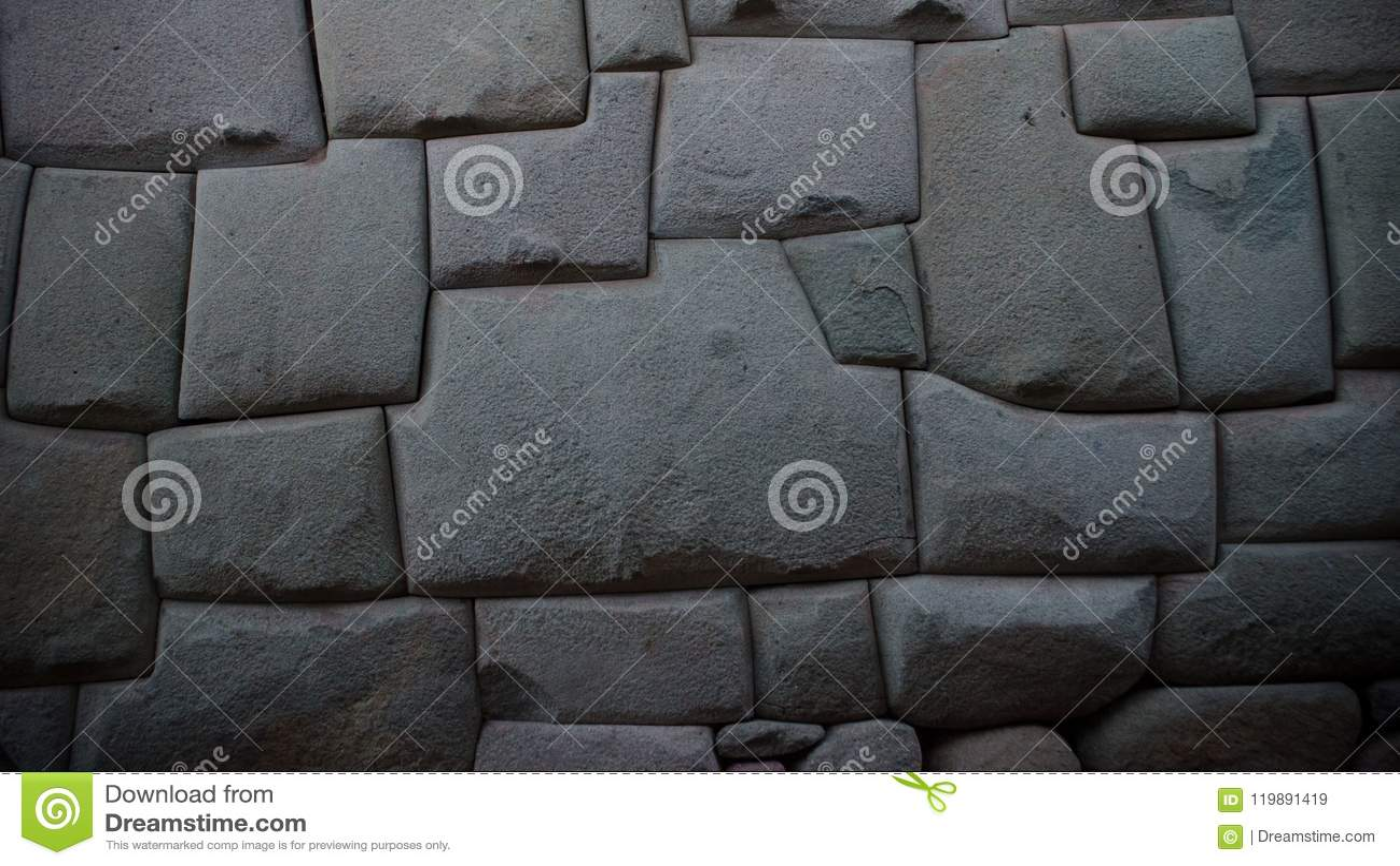 古老印加人石墙在市库斯科,秘鲁