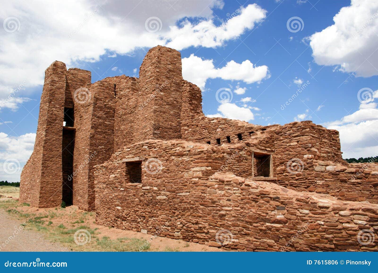古老印第安镇废墟
