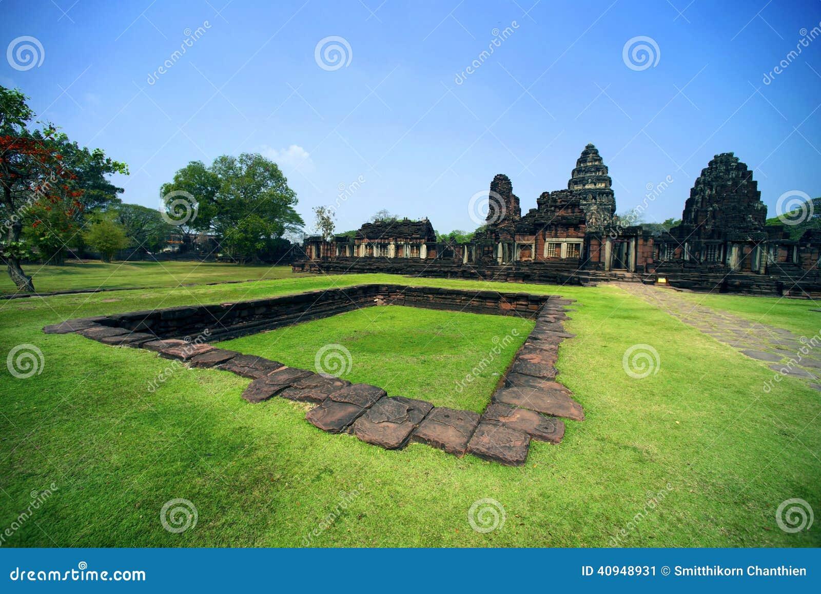古老在Phimai历史公园,泰国