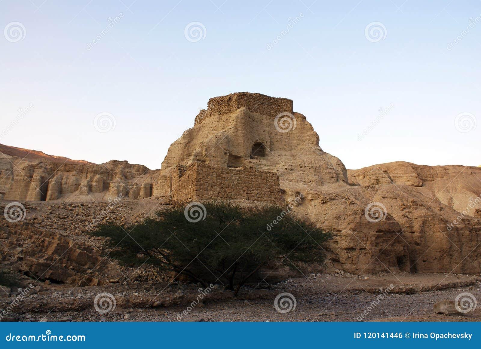 古老堡垒尼夫Zohar在沙漠Arava