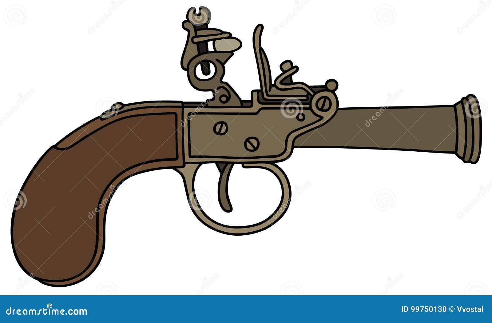 古老撞击声手枪