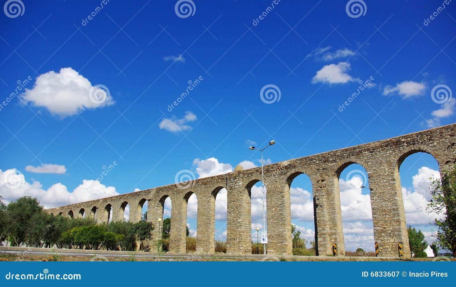 古老渡槽罗马的evora