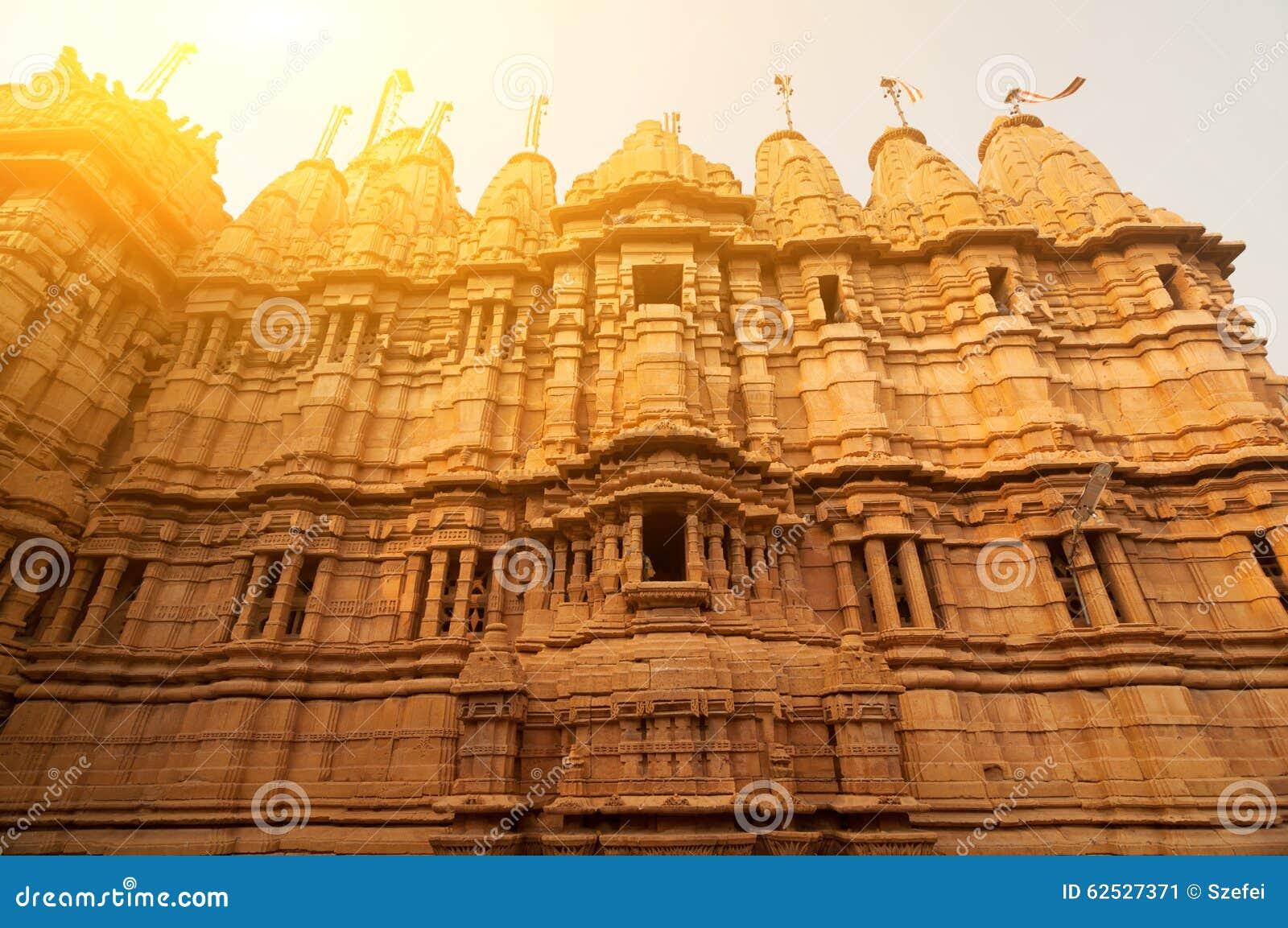 古老砂岩做了Jaisalmer堡垒