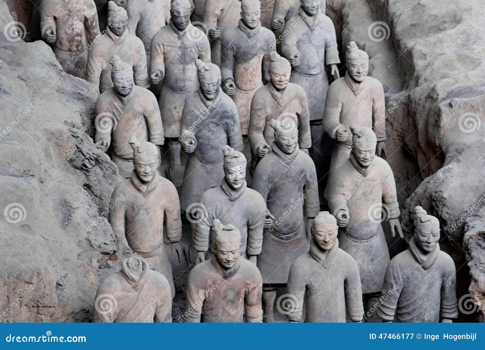 古老赤土陶器战士(联合国科教文组织)在西安,中国