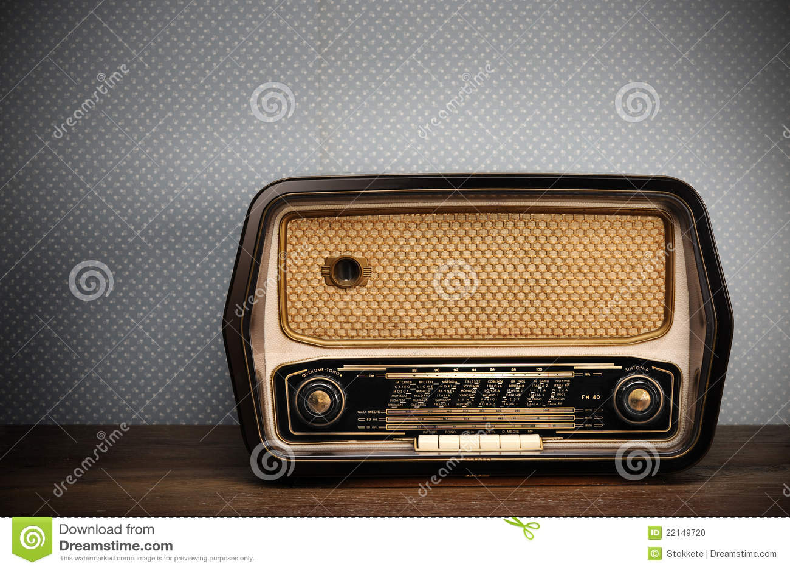 古色古香的收音机图片