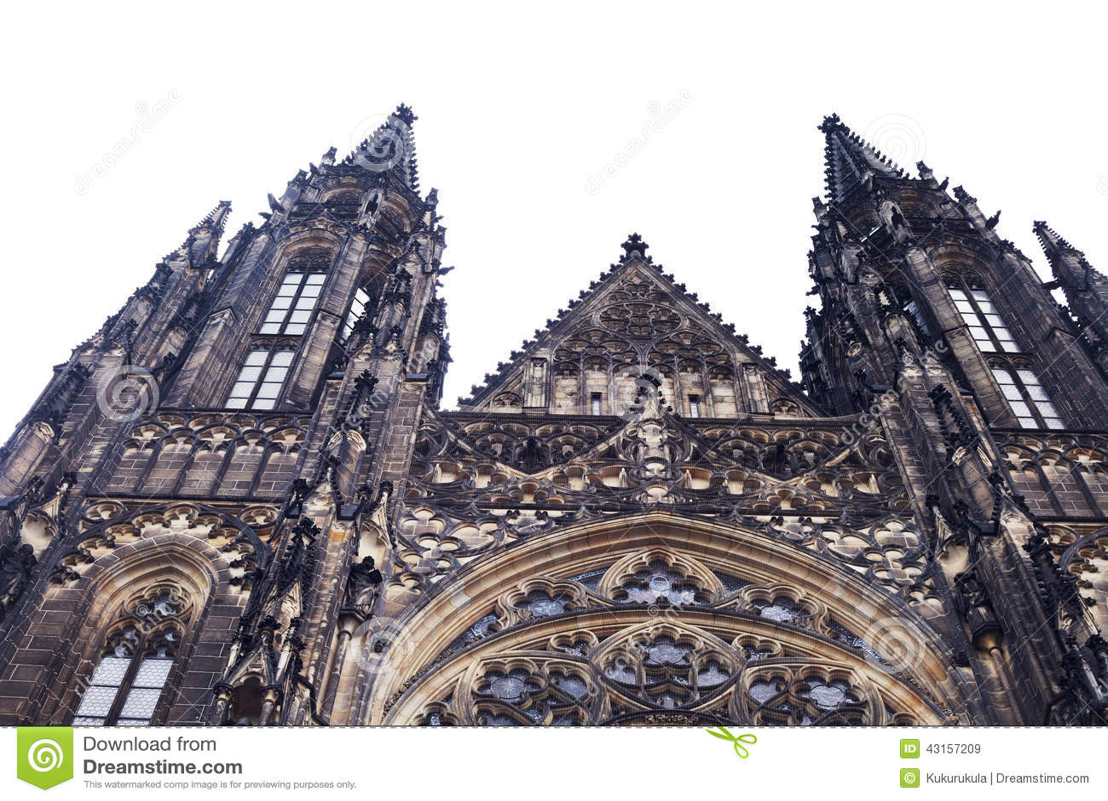 古色古香的新哥特式建筑学教堂图片