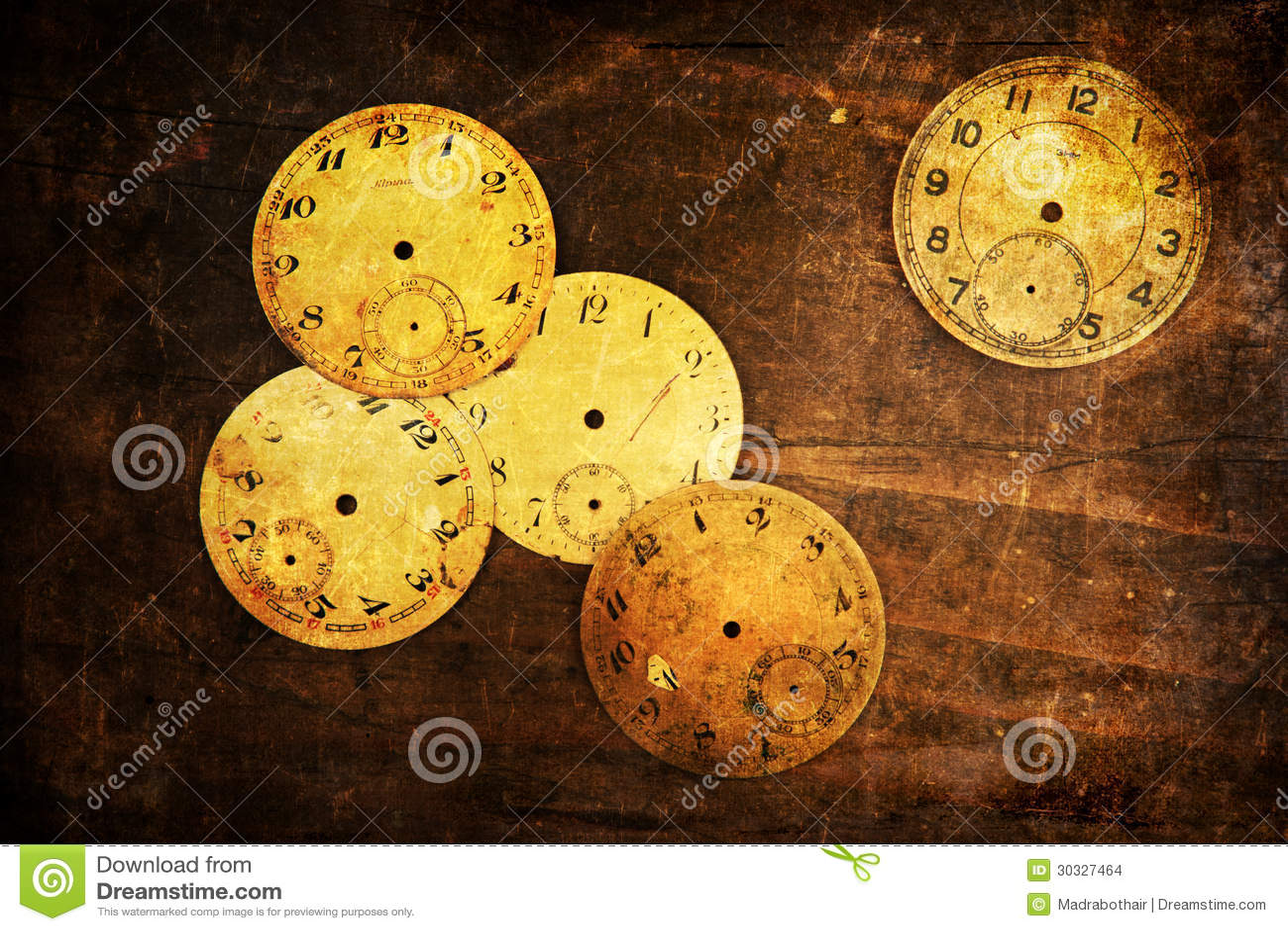 古色古香的时钟表盘的难看的东西织地不很细图片