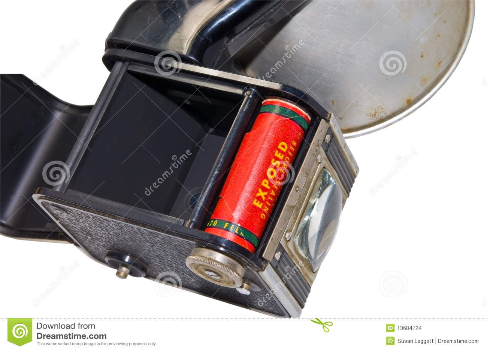 古色古香的照相机影片