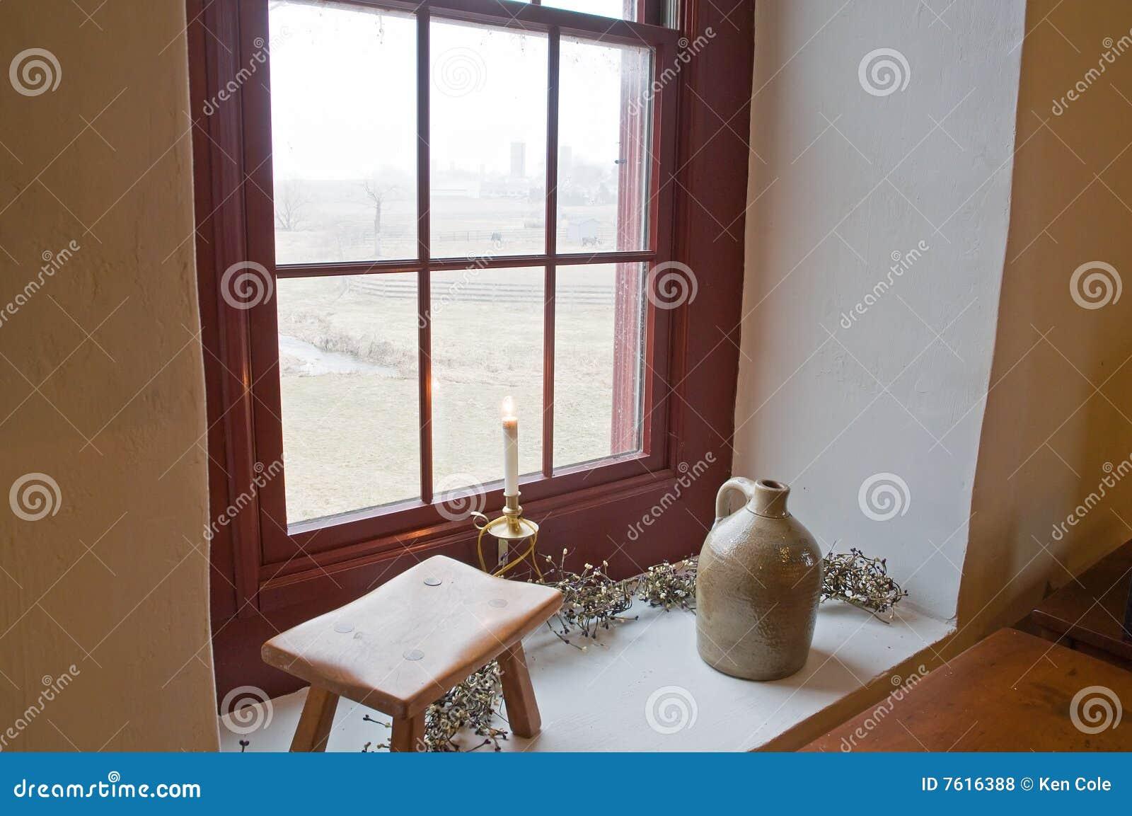古董老窗台