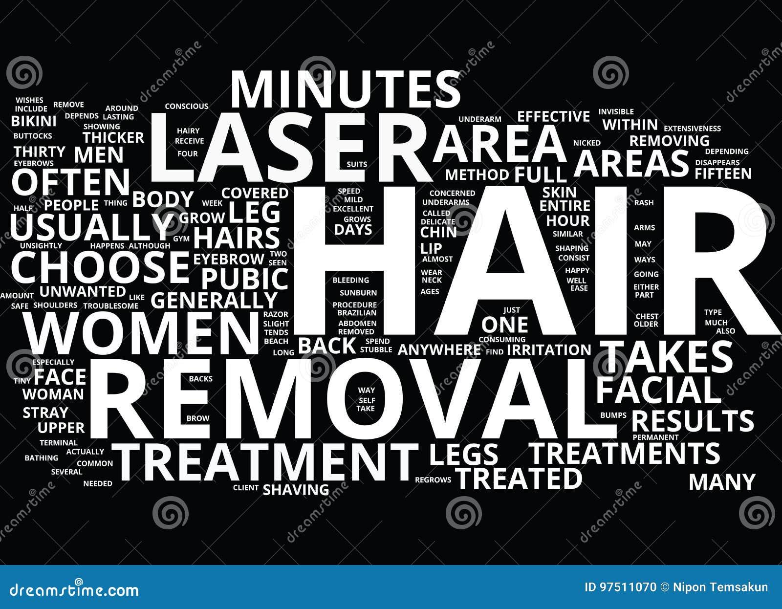 可以对待与激光头发撤除词云彩概念身体的区域