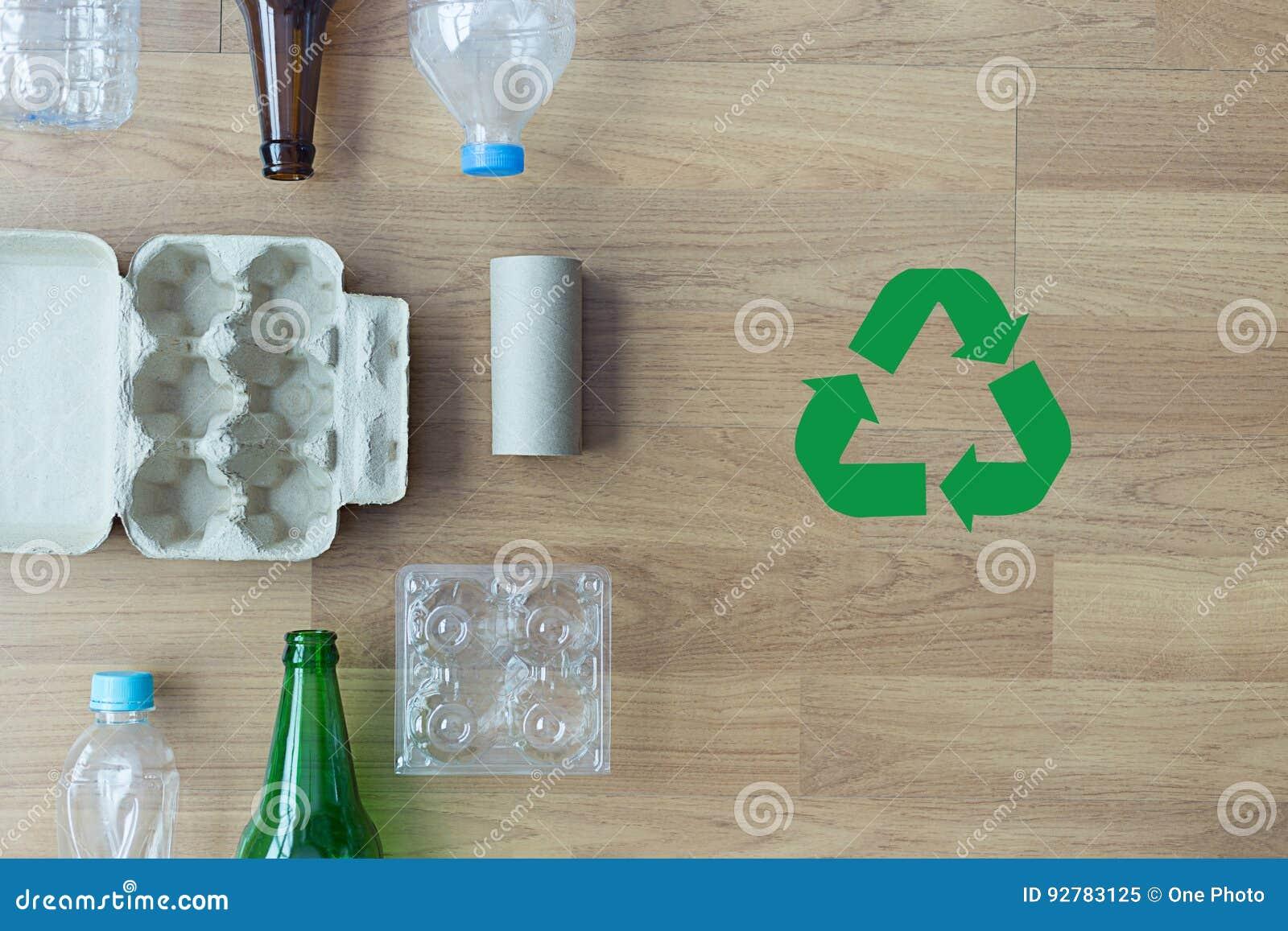 可再循环的垃圾包括的玻璃储款塑料塑料Env