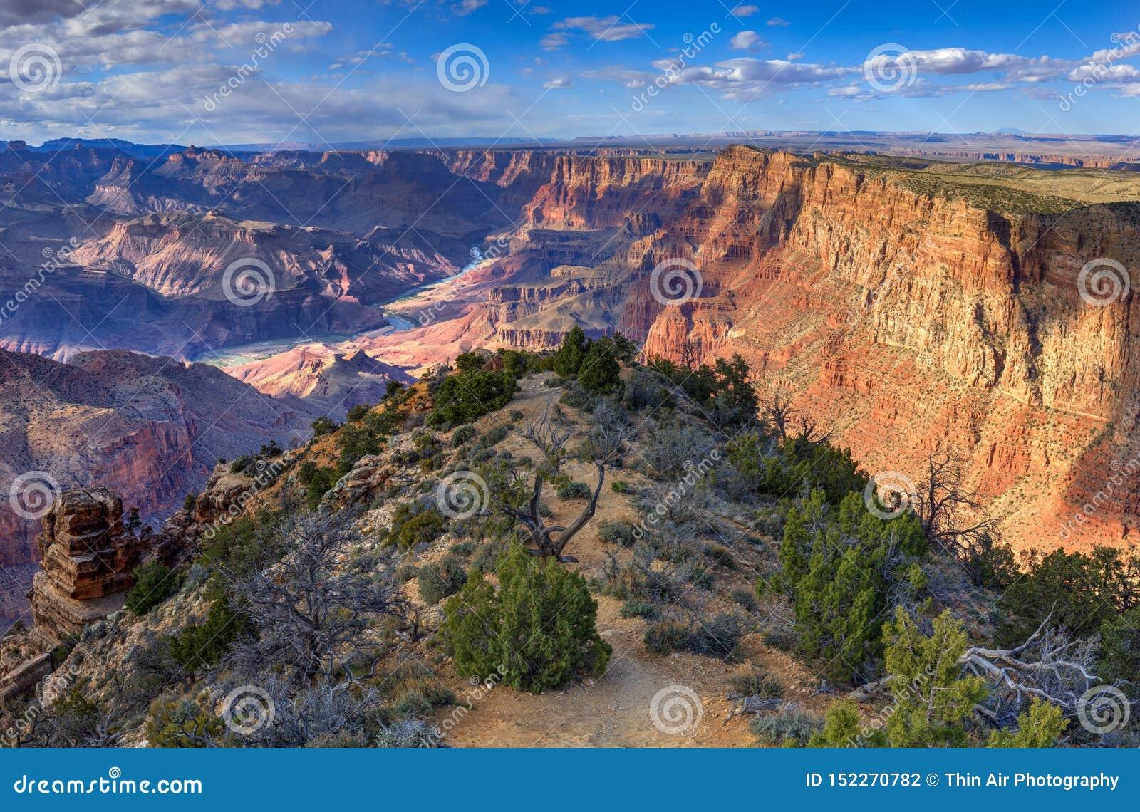 可口沙漠视图,沙漠视图俯视,大峡谷国家公园,亚利桑那,美国
