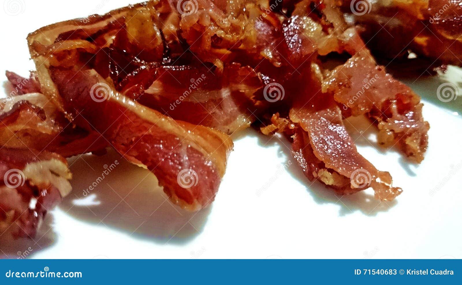 可口烟肉honeycured煮熟的早餐蜂蜜