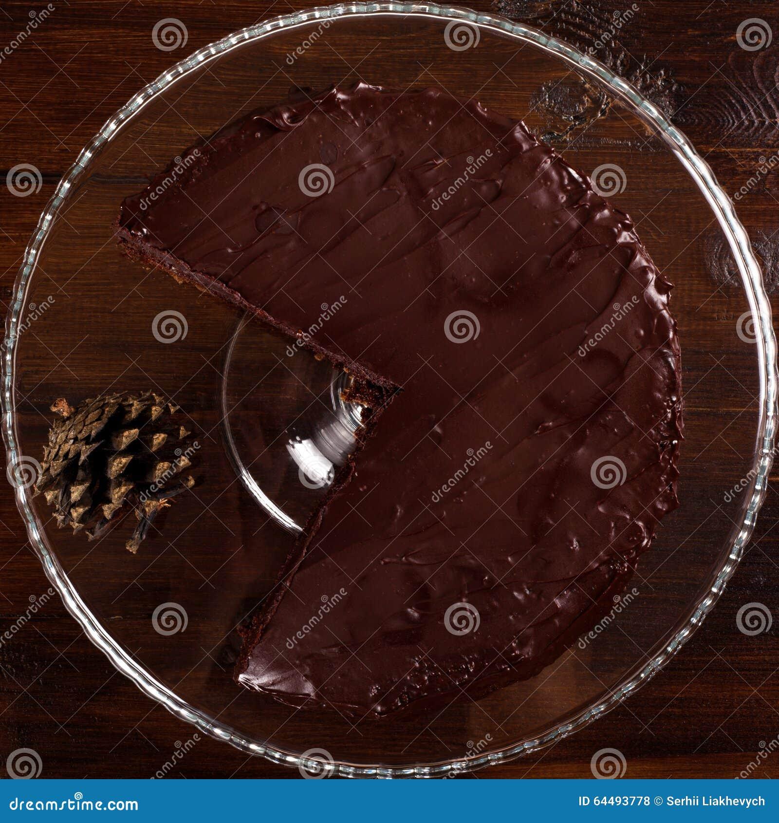 可口Sacher巧克力蛋糕 顶视图