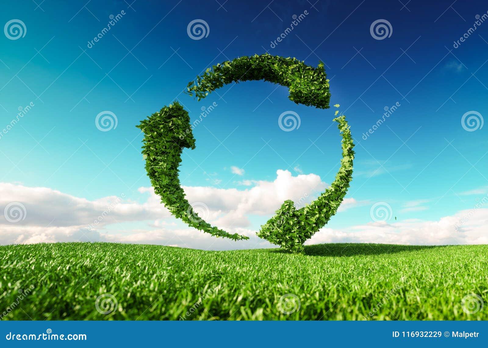可持续发展, eco友好的生活方式概念 3d烈