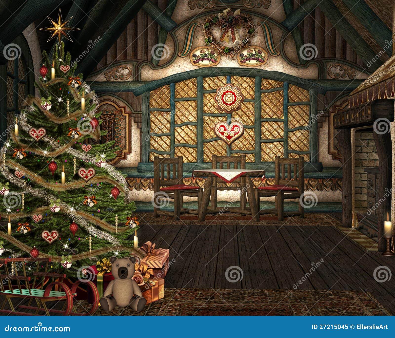 可爱的圣诞节空间