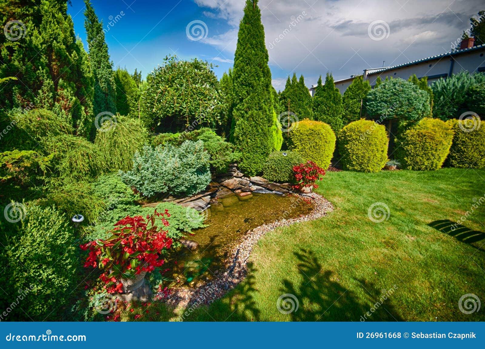可爱的绿色庭院