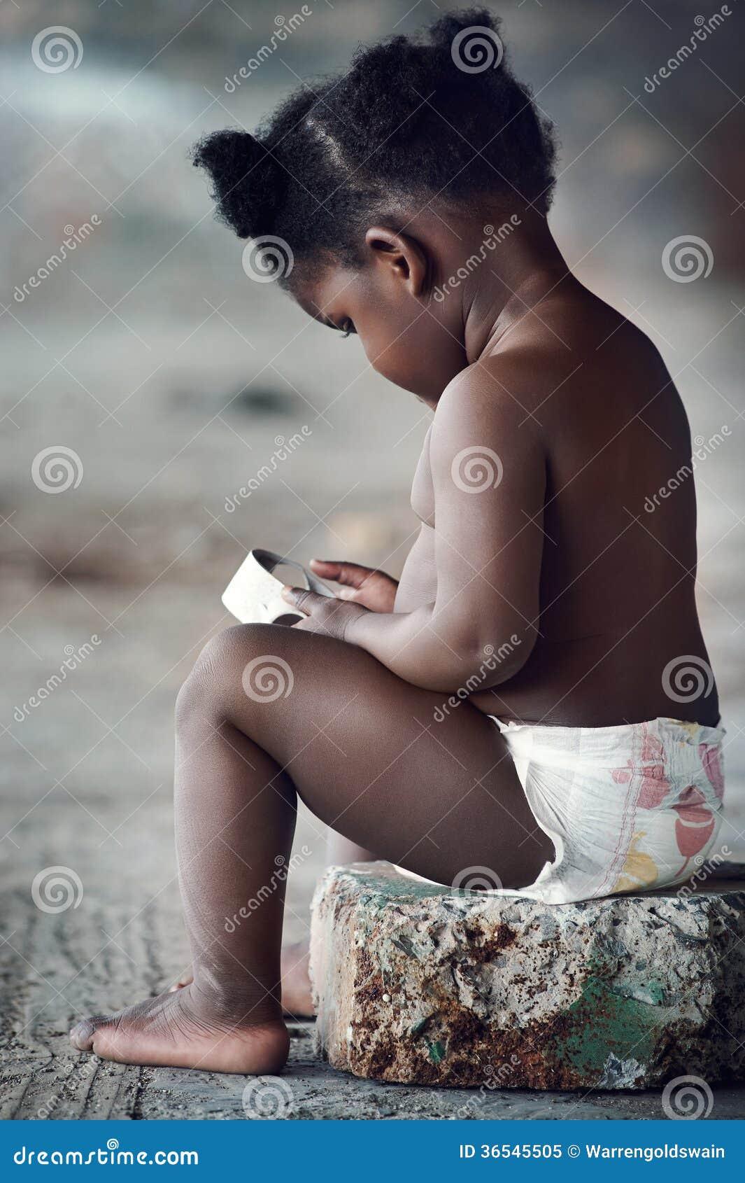可爱的非洲婴孩