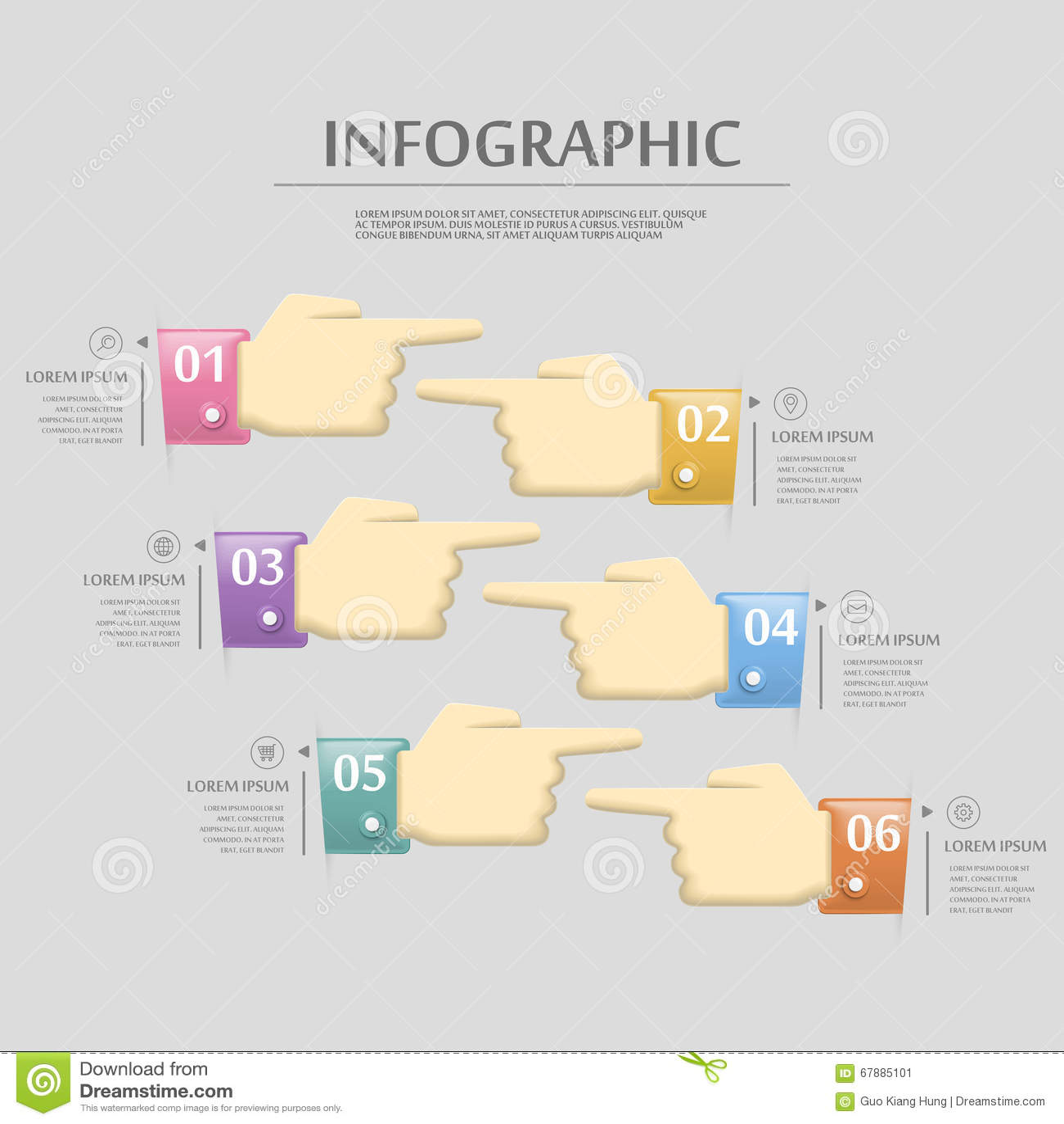 可爱的infographic模板
