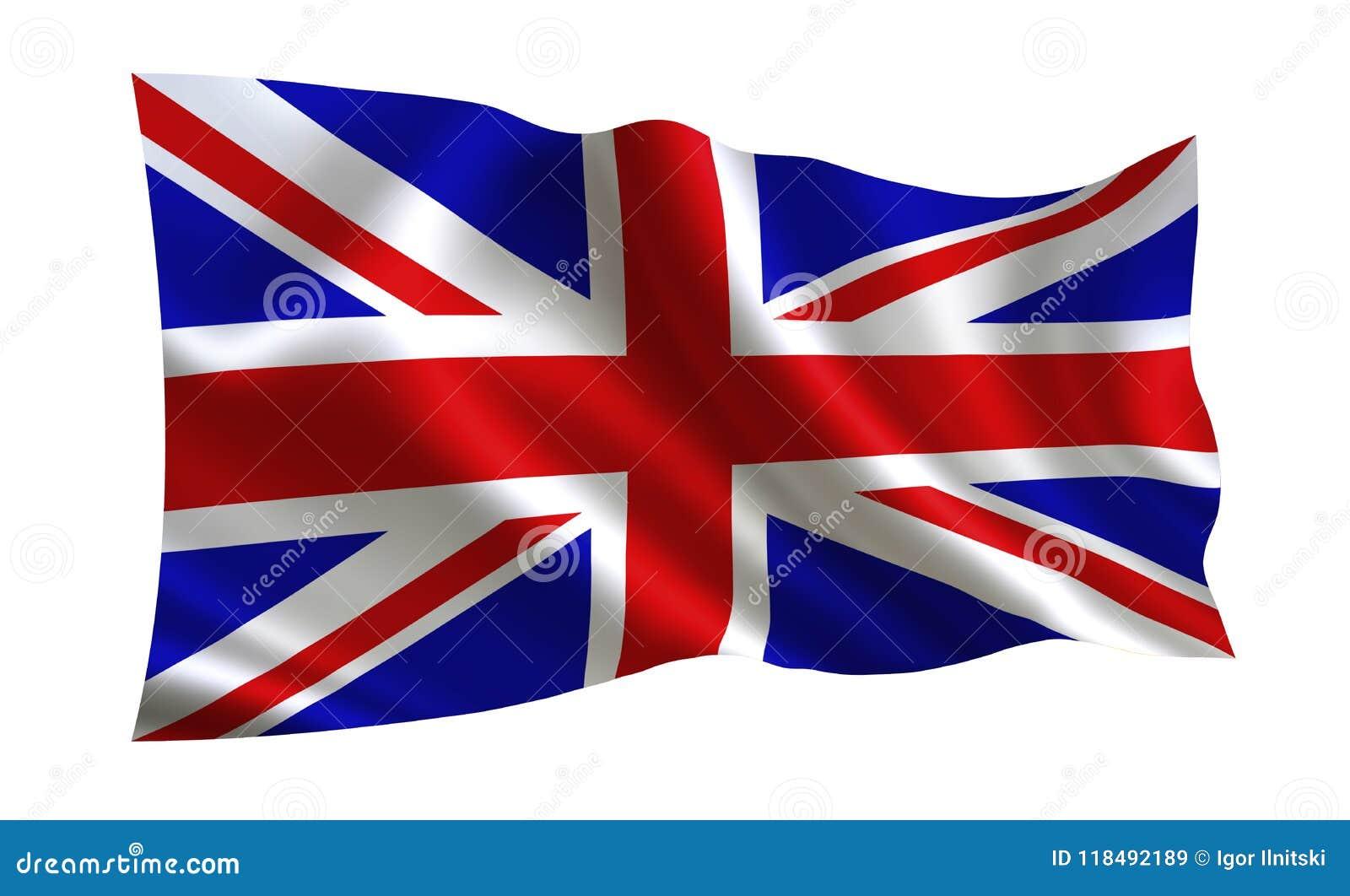 可用的英国标志玻璃样式向量 世界的一系列的`旗子 `国家-英国旗子