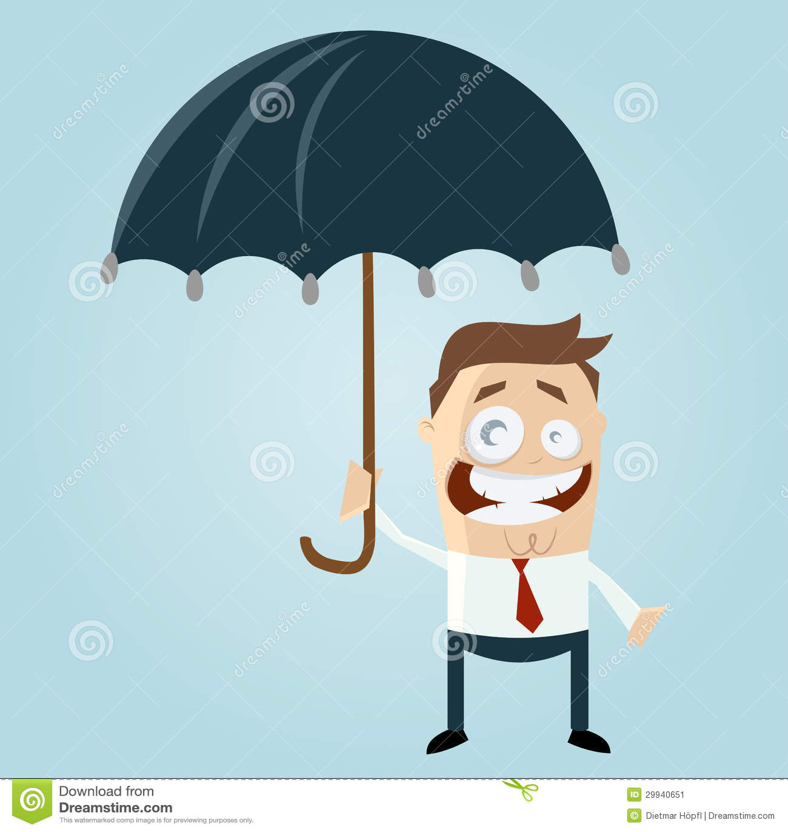 有伞的动画片人图片