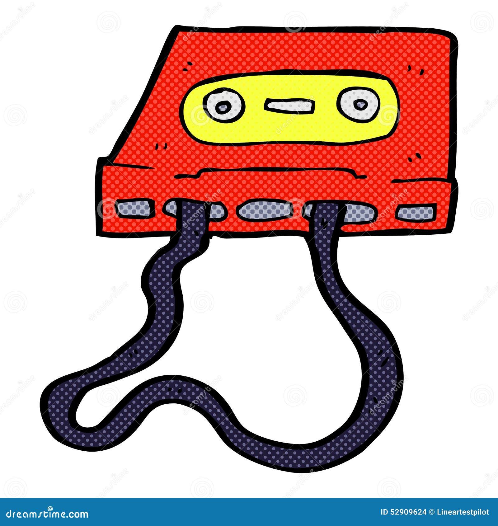 可笑的动画片盒式磁带