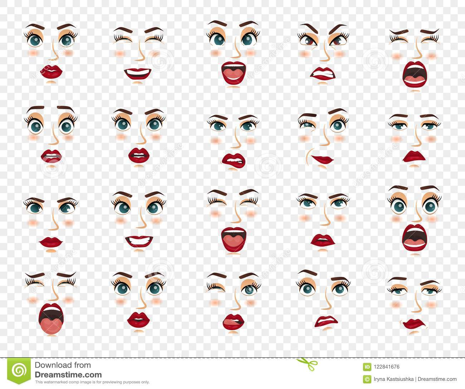 download 可笑的情感 妇女表情,姿态,情感幸福惊奇憎恶悲伤着迷失望图片