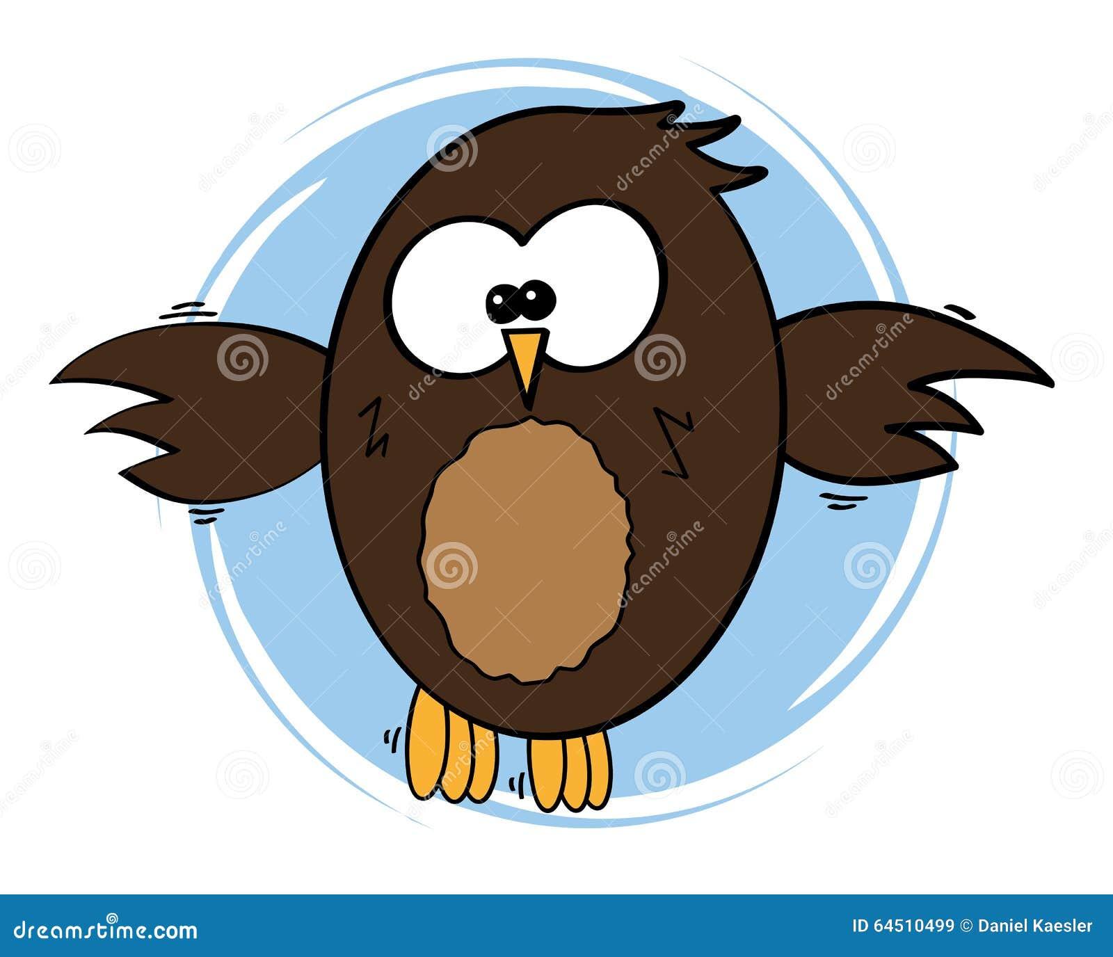 可笑的样式猫头鹰传染媒介例证