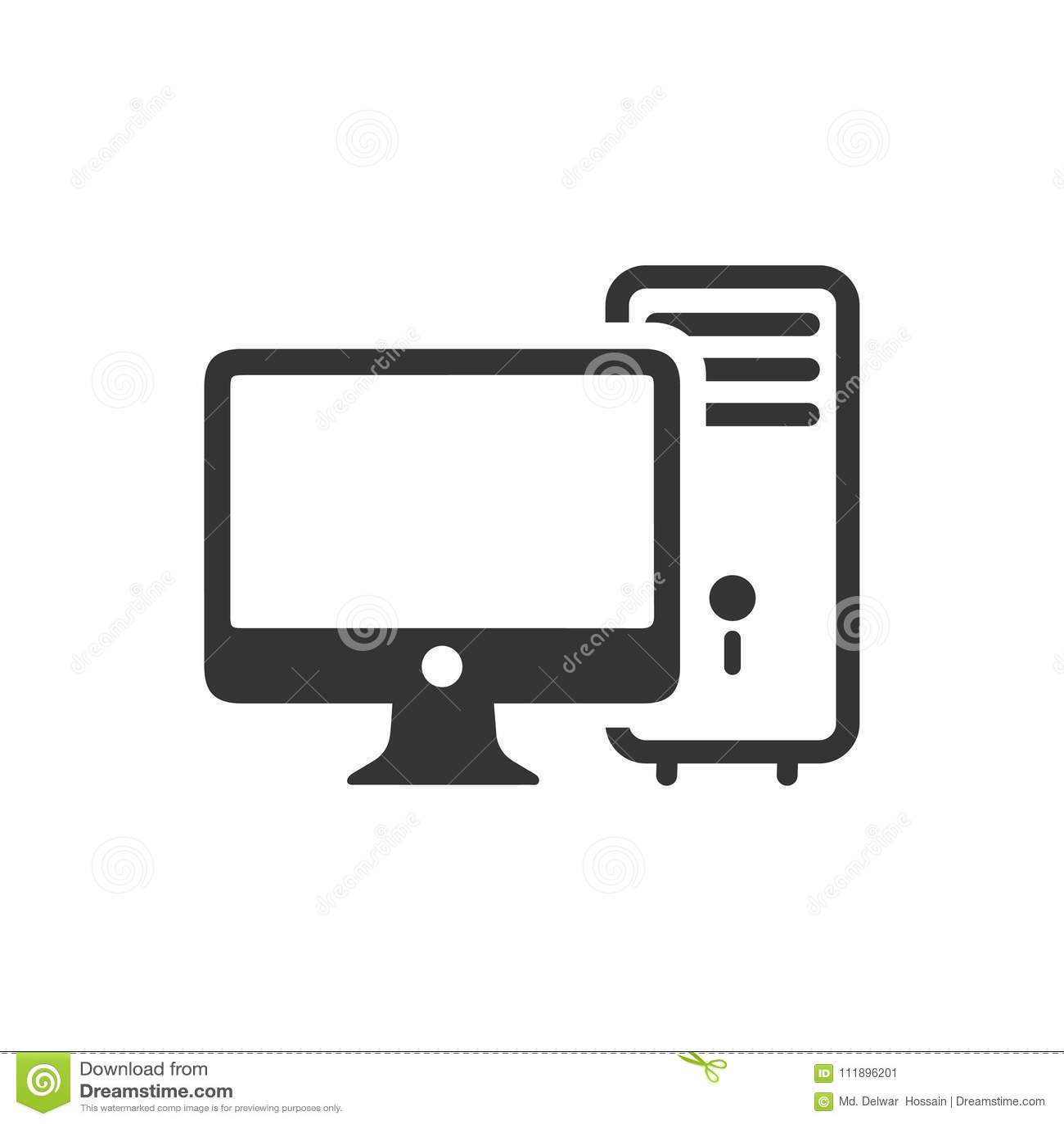 台式计算机象