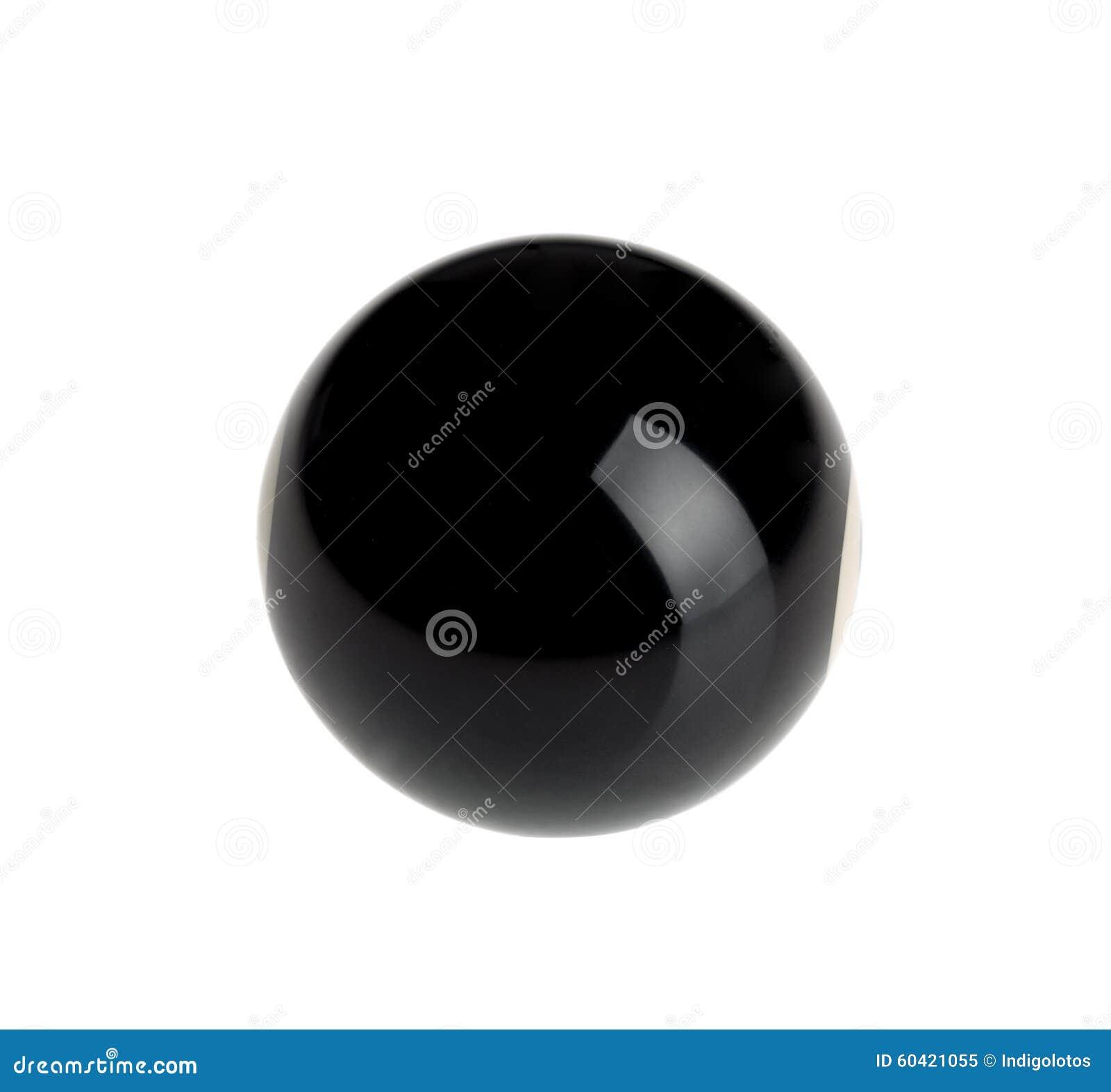 台球的发光的球