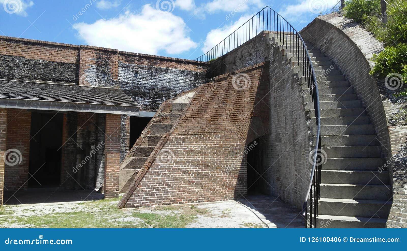 台阶无处,堡垒皮肯斯,彭萨科拉,佛罗里达,美国