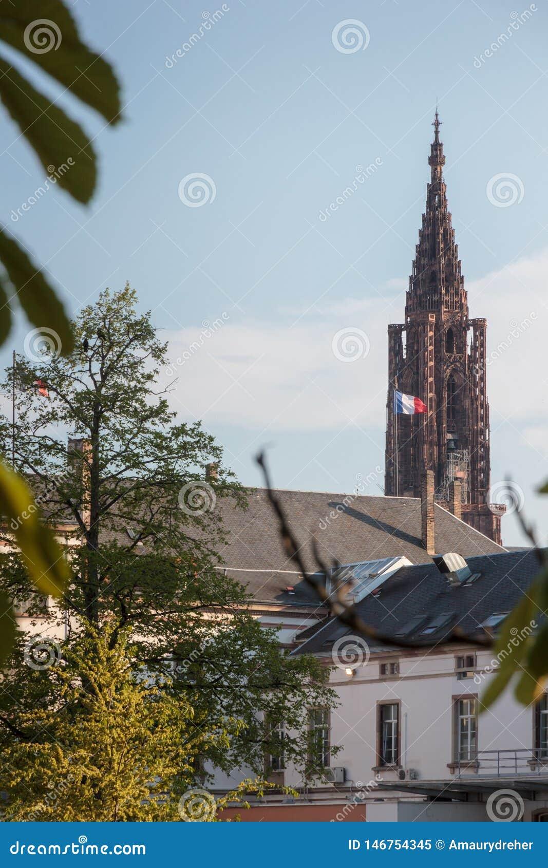 史特拉斯堡大教堂的距离视觉