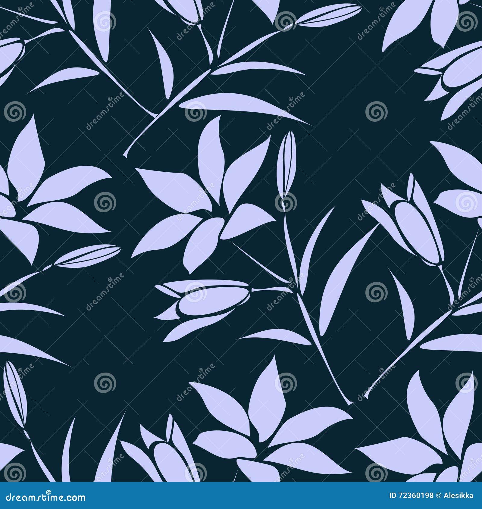 叶子背景 与百合的花卉无缝的纹理