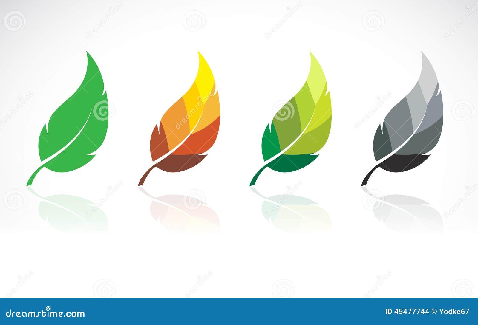 叶子设计的传染媒介图象