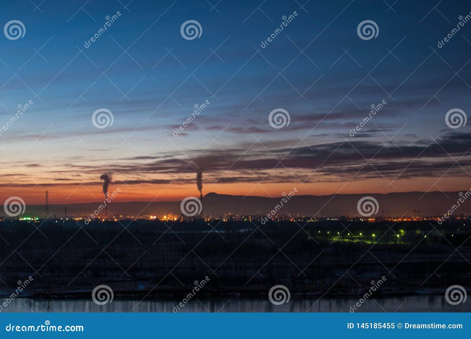 ?? 夜城市 叶尼塞的城市