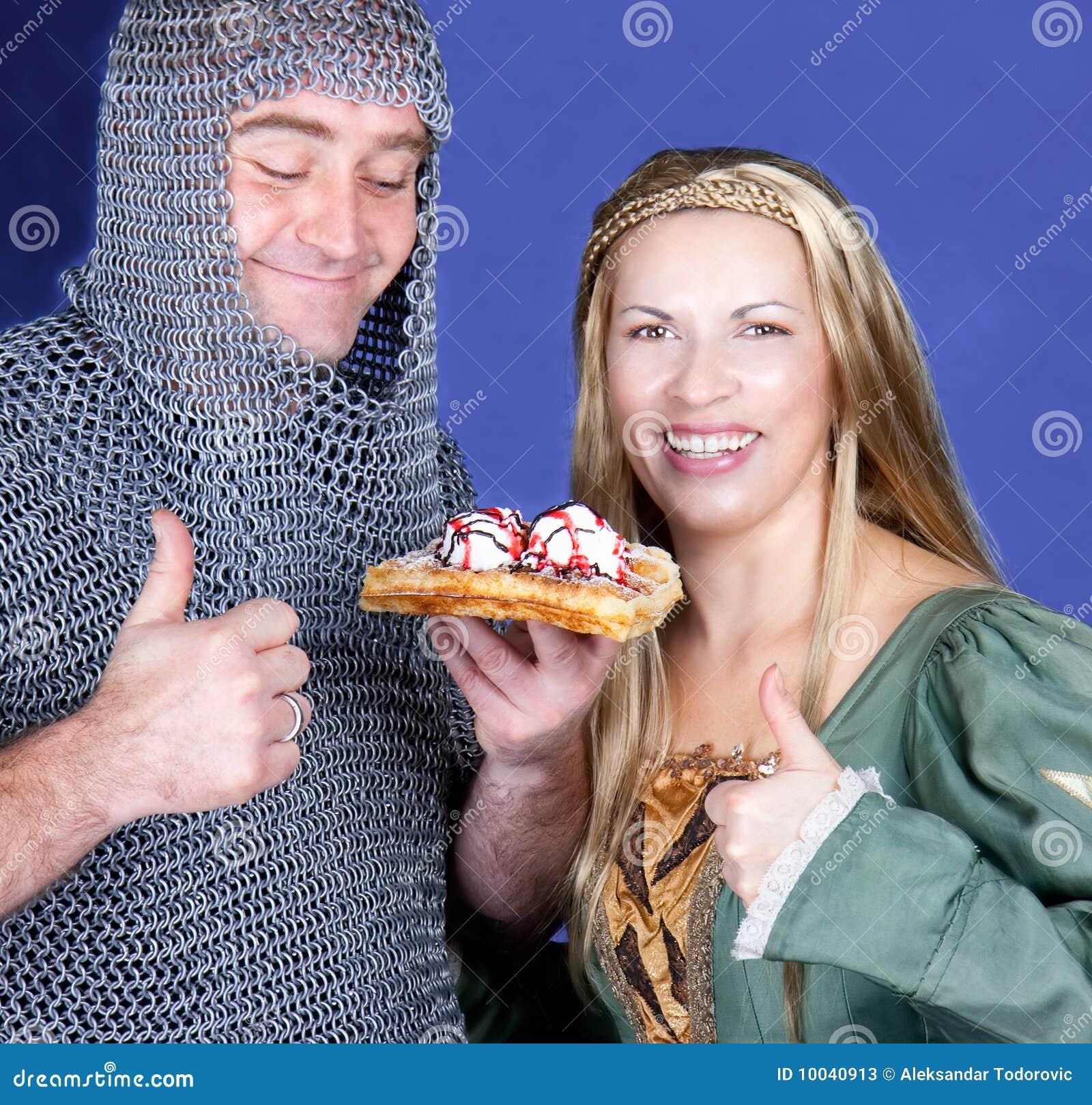 吃奶蛋烘饼用冰淇凌的骑士和王子