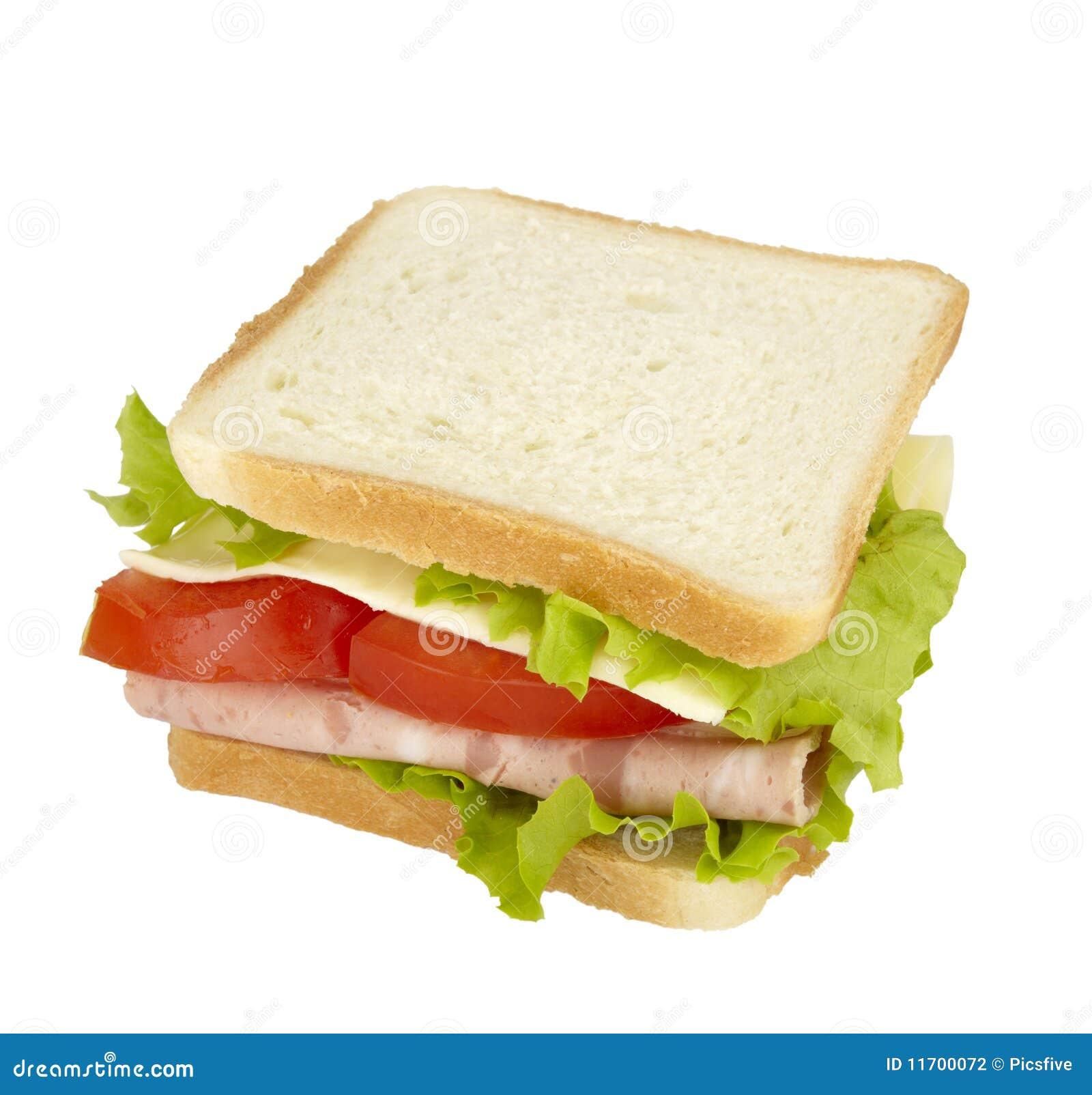 吃食物膳食三明治快餐图片