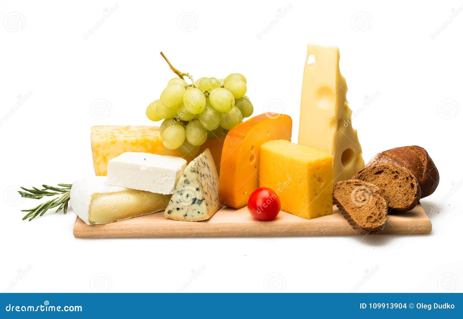 各种各样的种类乳酪,樱桃Tomatoe,葡萄