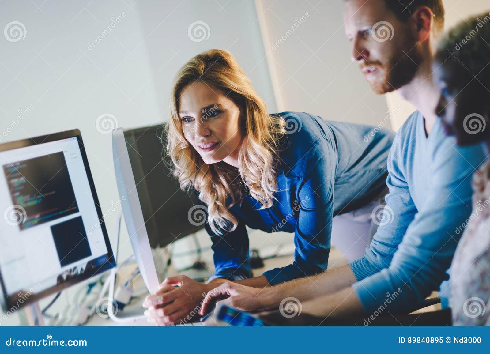 合作在信息技术公司的程序员