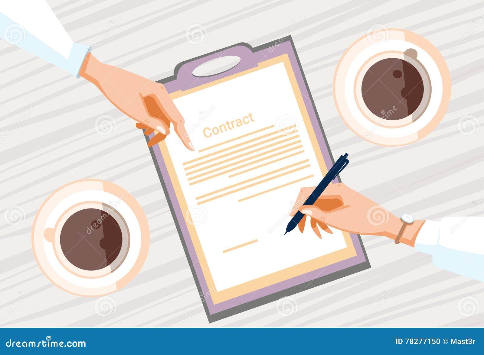 合同报名参加纸张文件商人协议笔署名