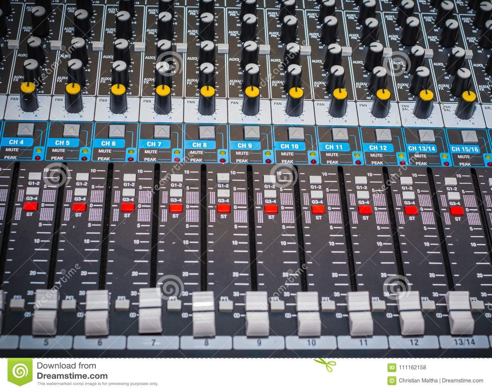 合理的控制板或混合的控制台