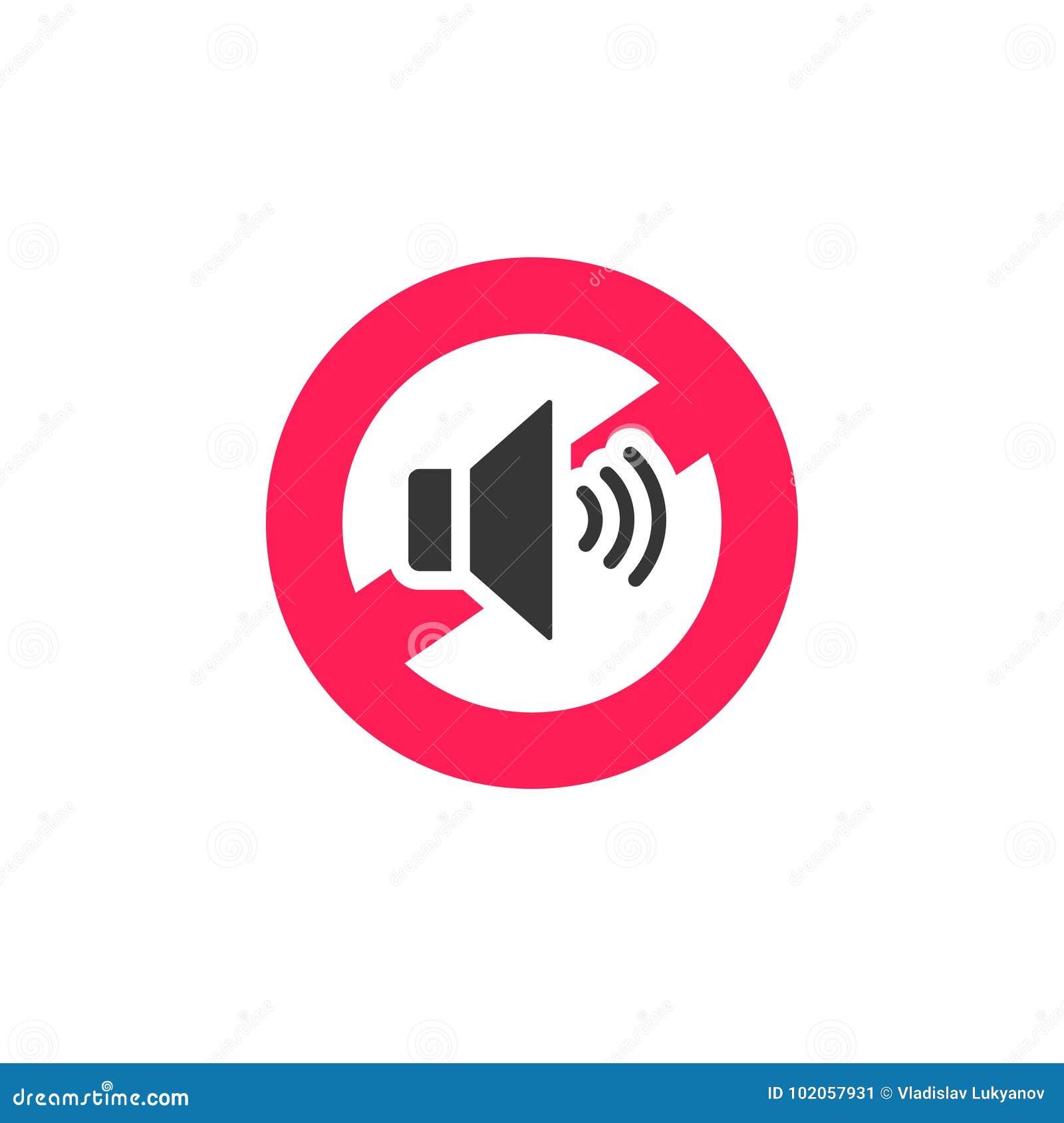 合理的标志象传染媒介例证,不吵闹有限的标志隔绝在白色