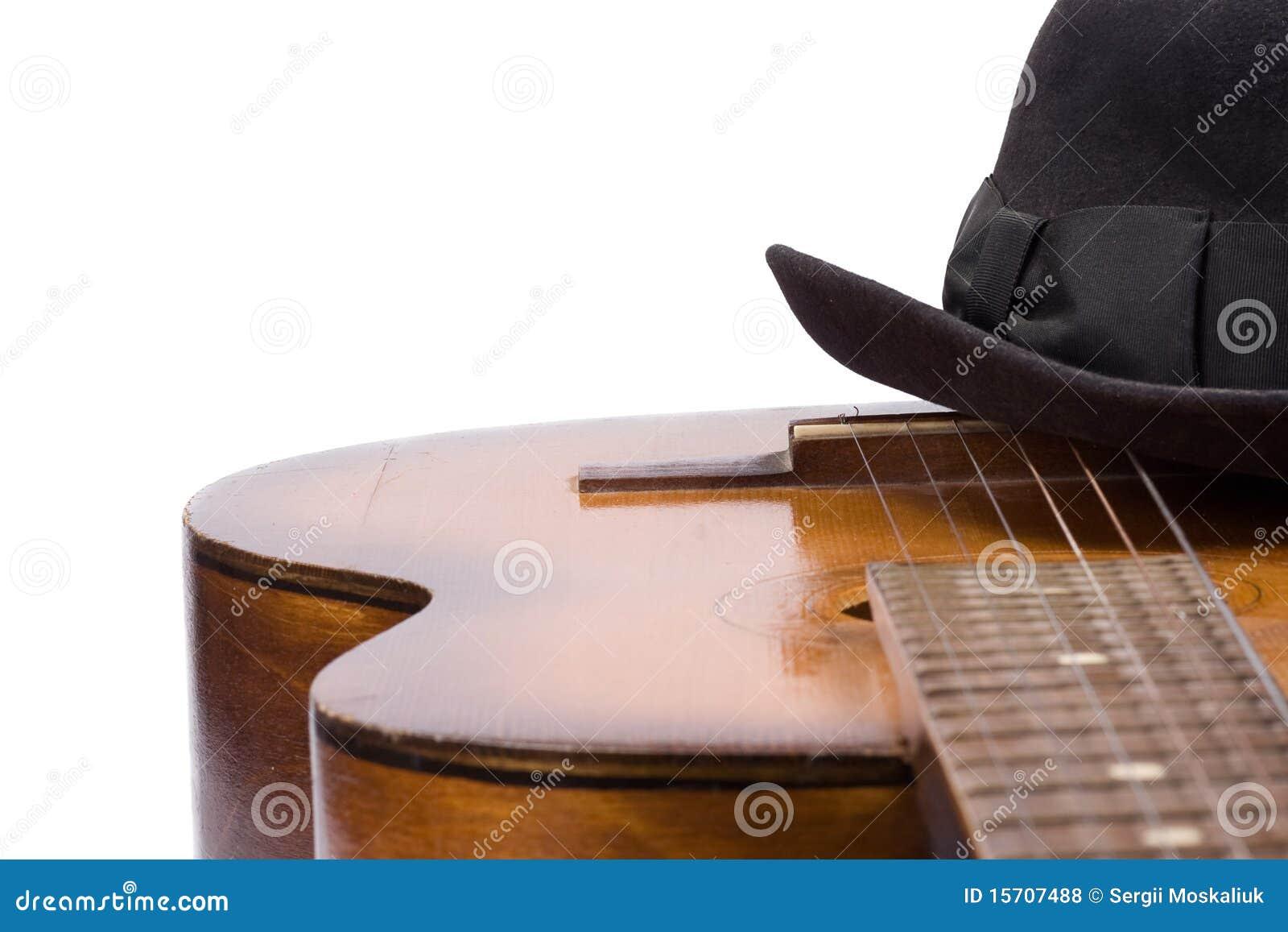 吉他帽子白色