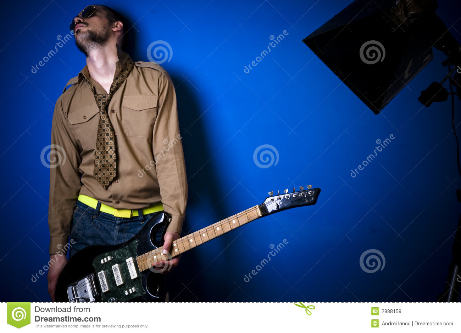 吉他演奏员岩石