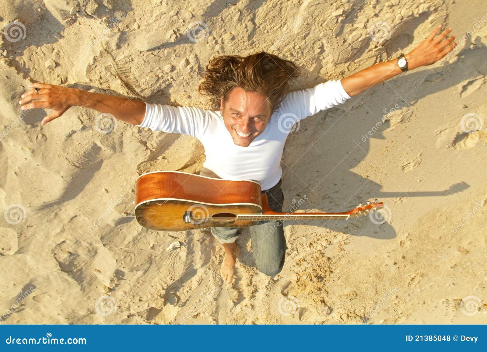 吉他演奏员沙子