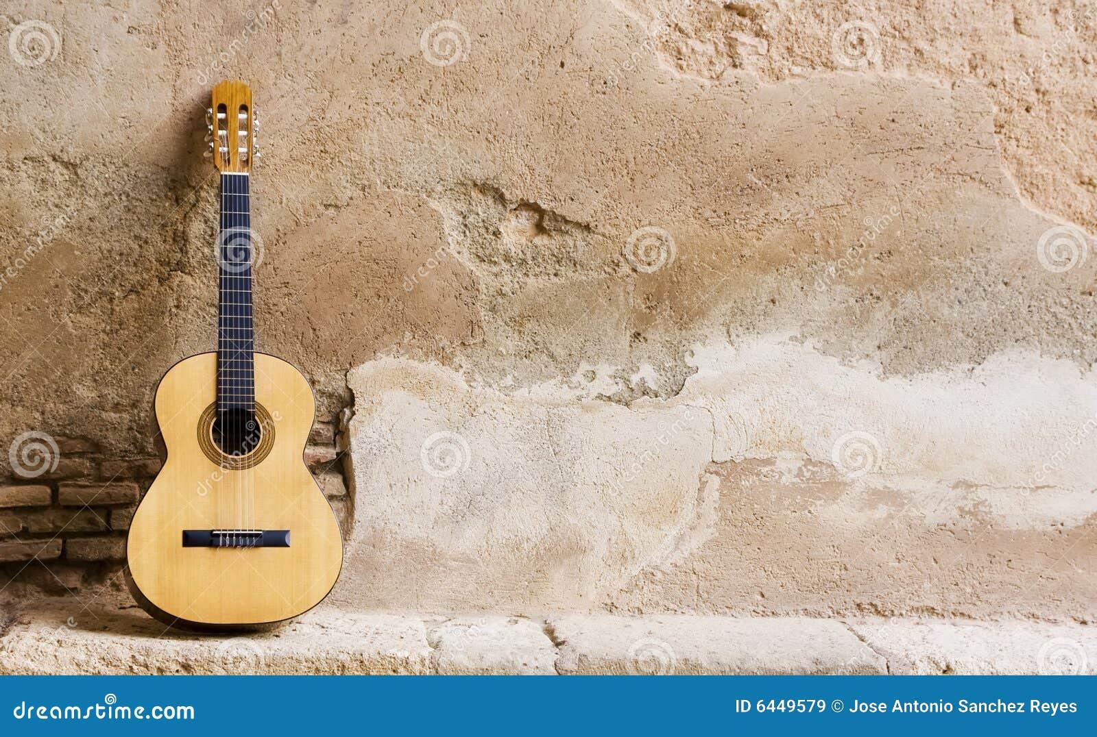 吉他西班牙语墙壁