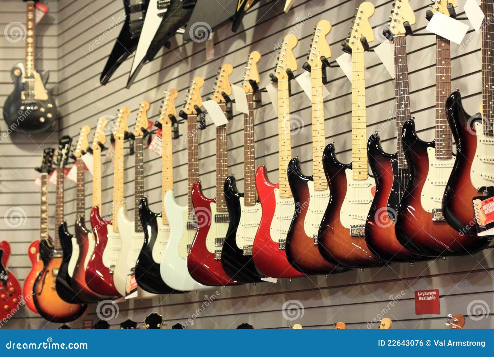 吉他销售额墙壁